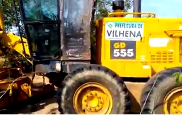 7b9d55a7b25 A redação do Extra de Rondônia recebeu um vídeo onde um morador denuncia o  que seria um ato de improbidade administrativa.